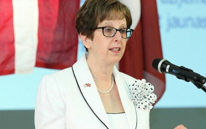 USA suursaadik Lätis Nancy Bikoff Pettit.