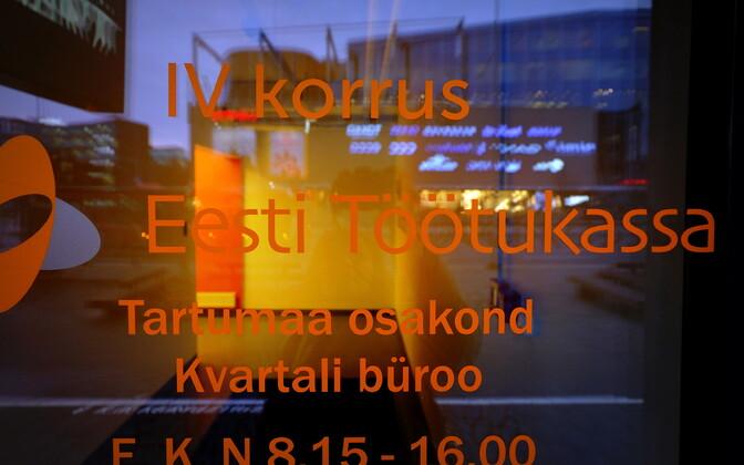 The Estonian Unemployment Insurance Office in Central Tartu.