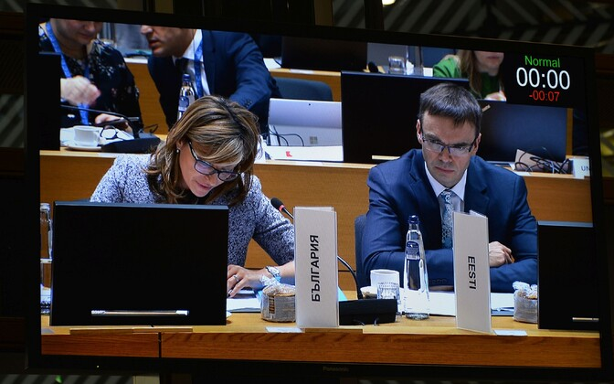 Minister of Foreign Affairs Sven Mikser (SDE) at Monday's meeting of the EU Foreign Affairs Council in Brussels. 10 December 2018.