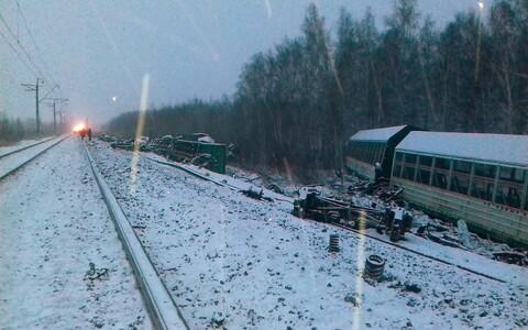 Железнодорожная авария в Омске.