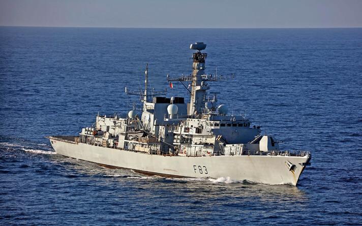 Фрегат британских ВМС HMS St Albans.