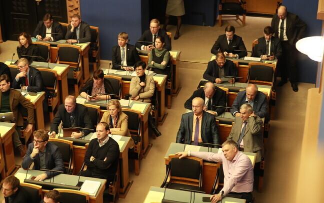 Riigikogu sitting.