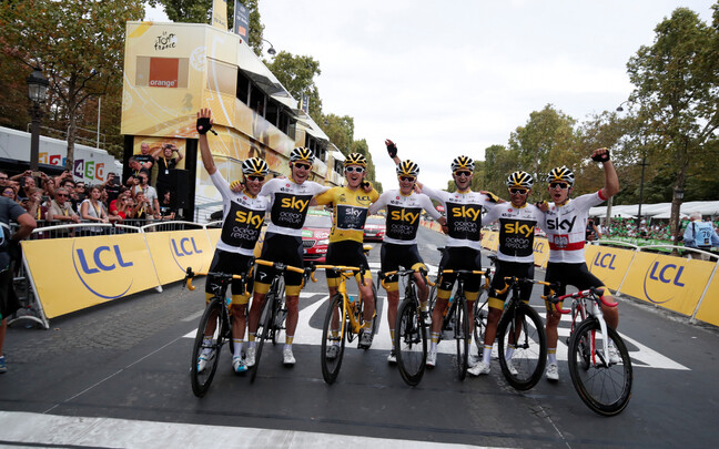 Team Sky ratturid tänavusel Tour de France'il