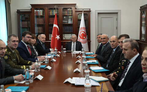 Minister of Defence Jüri Luik (Pro Patria) met with Speaker of the Grand National Assembly Binali Yıldırım in Ankara on Tuesday. 11 December 2018.