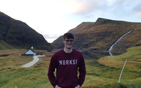 Keegan McBride of the Ragnar Nurkse Department of Innovation and Governance, whilst on the Faroe Islands in November.