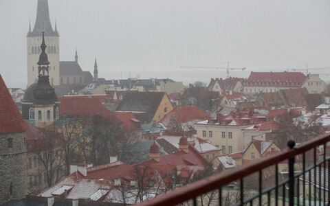 Мокрый снег и дождь.