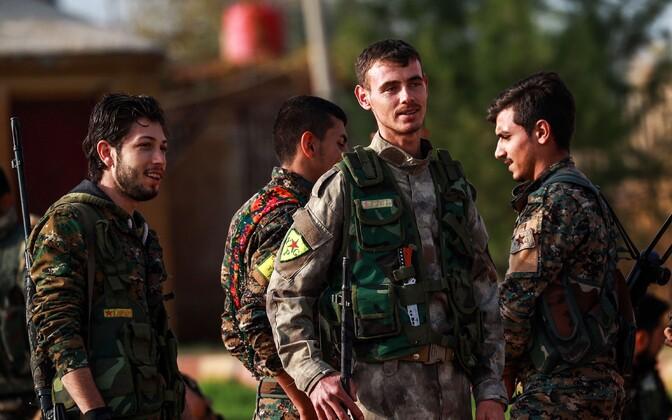 Kurdi YPG võitlejad.