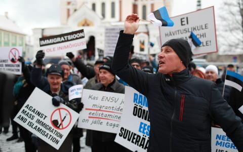 Митинг EKRE на Тоомпеа поспособствовал взлету популярности партии.