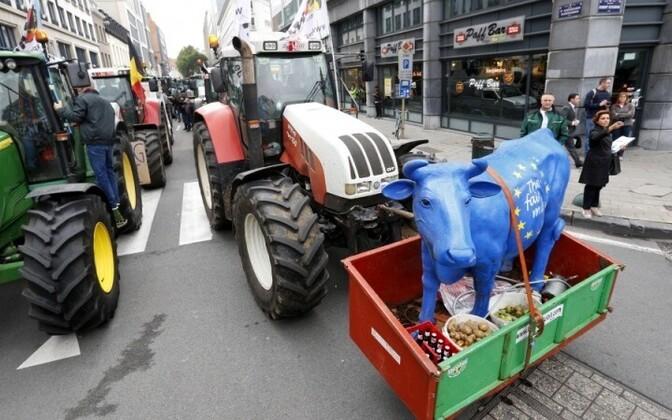 Протесты фермеров проходят регулярно.