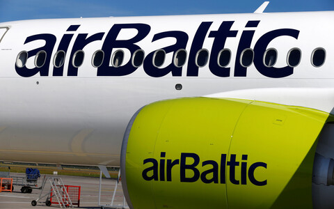 An airBaltic plane.