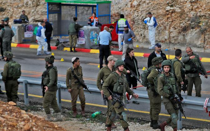 Iisraeli sõdurid sündmuskohal.