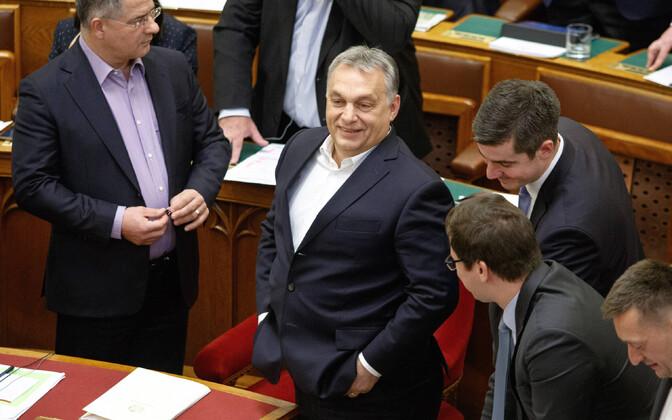 Peaminister Viktor Orban Ungari parlamendis.