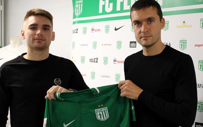 Pavel Dõmov ja FC Flora spordidirektor Norbert Hurt
