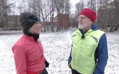 78-aastane maratonijooksja Rein Pärn