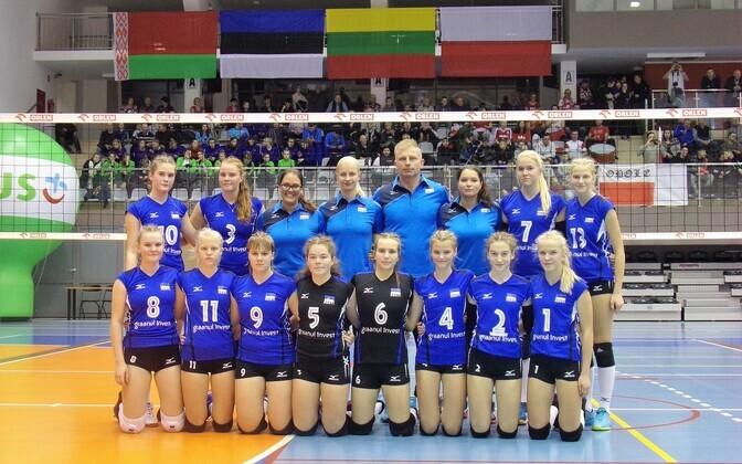 Eesti U-14 neidude võrkpallikoondis EEVZA turniiril