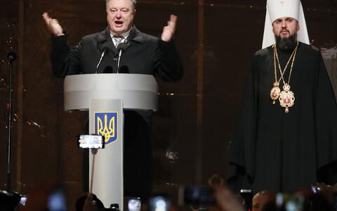 Петр Порошенко и митрополит Епифаний.