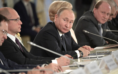 President Vladimir Putin 15. detsembril Peterburis.
