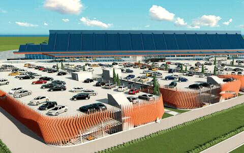 Эскизный проект нового паркинга в Таллиннском аэропорту.