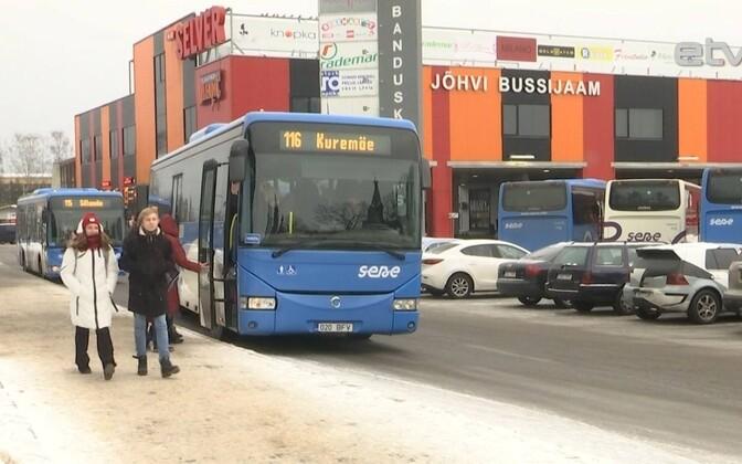 SEBE buss Jõhvi bussijaamas