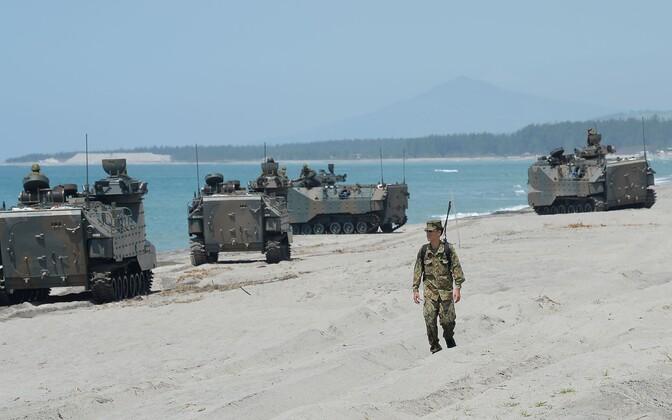 Jaapani kaitsevägi õppustel.