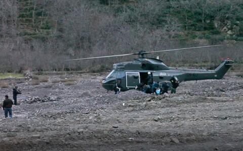 Вертолет на месте преступления в Марокко.