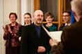 Uute akadeemikute inaugureerimine. Kalle Kirsimäe (keskel).
