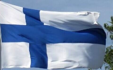 Государственный флаг Финляндии.