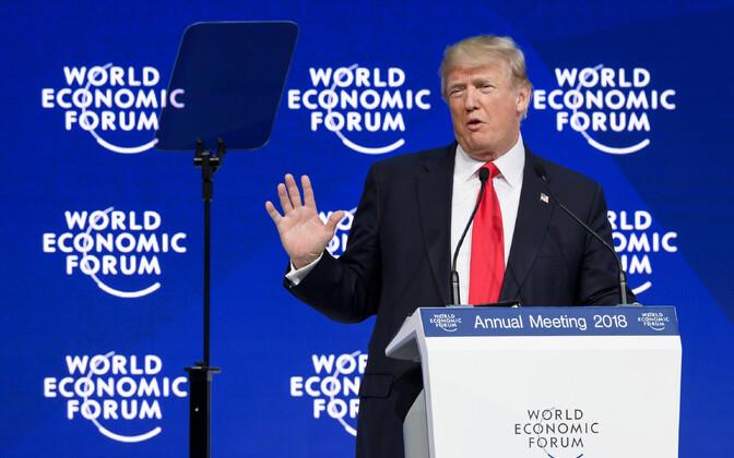 Donald Trump Davosi majandusfoorumil 2018. aasta jaanuaris.