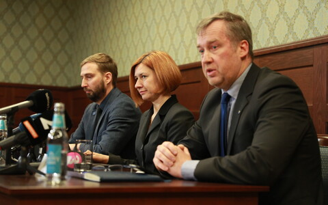 State Prosecutor Marek Vahing, Prosecutor General Lavly Perling and Central Criminal Police chie Aivar Alavere