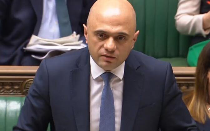 Immigratsiooniplaani tutvustanud Briti siseminister Sajid Javid.