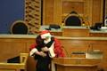 Santa Claus visited the Riigikogu on Thursday. 20 December 2018.