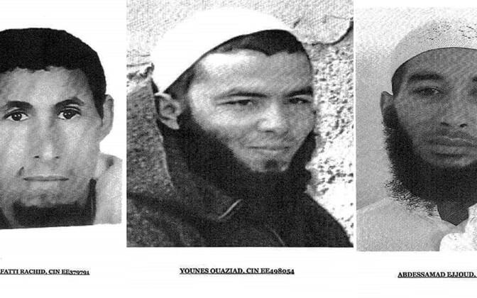 Опубликованные марокканской полицией фотографии подозреваемых в убийстве.