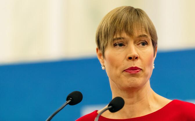 Президент Эстонии Керсти Кальюлайд поддерживает миграционное соглашение.