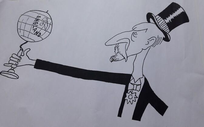 Karikatuur Jaan Tõnissonist