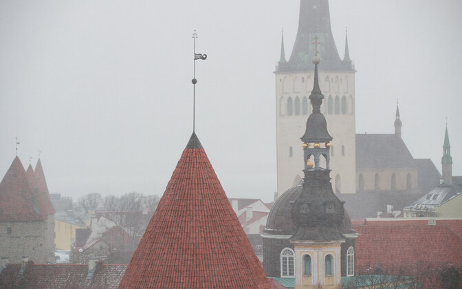 Snowy Tallinn. Image is illustrative.