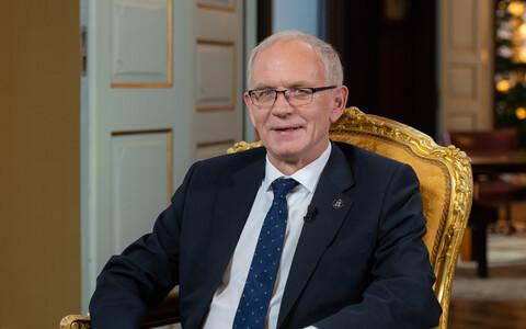 Speaker of the Riigikogu Eiki Nestor (SDE).