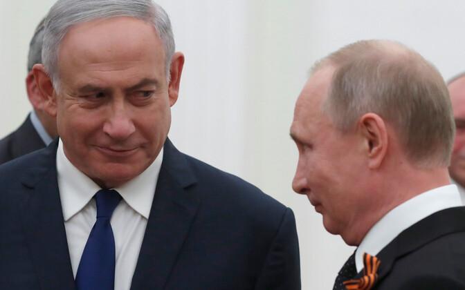 Benjamin Netanyahu ja Vladimir Putin.