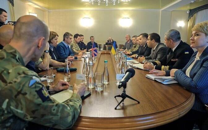 Briti kaitseminister Odessas.