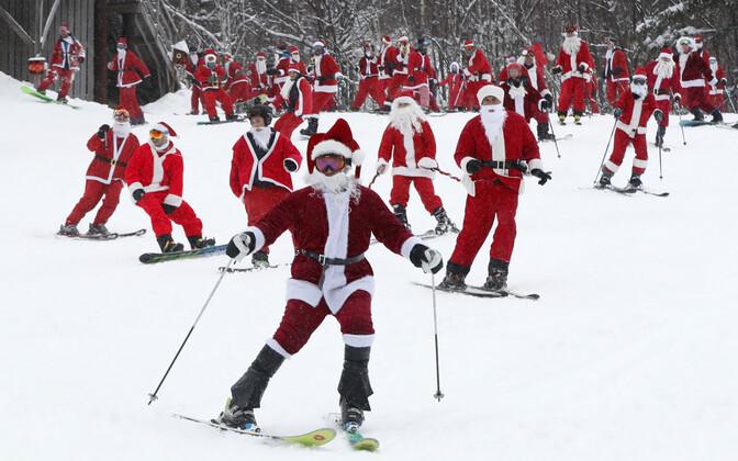 Sportivad jõuluvanad