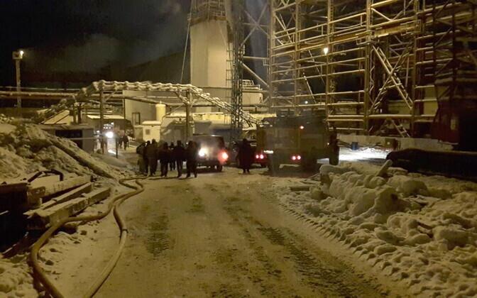 Päästetöötajad Solikamski kaevanduses.