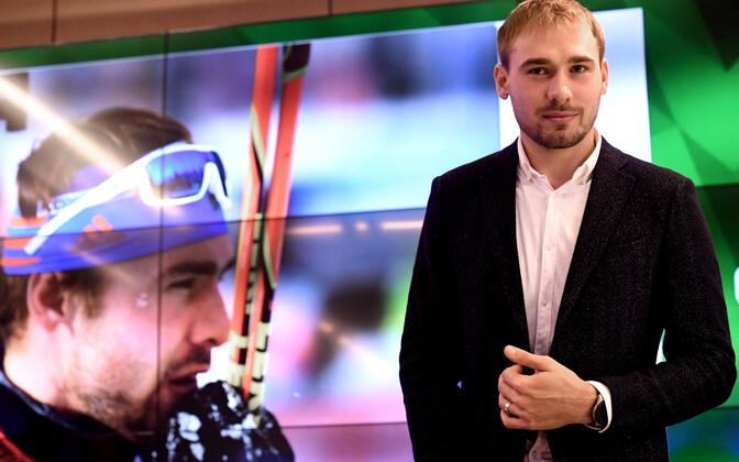 Anton Šipulin teatas Moskvas peetud pressikonverentsil sportlaskarjääri lõpetamisest.