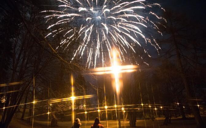 Fireworks in Tallinn.