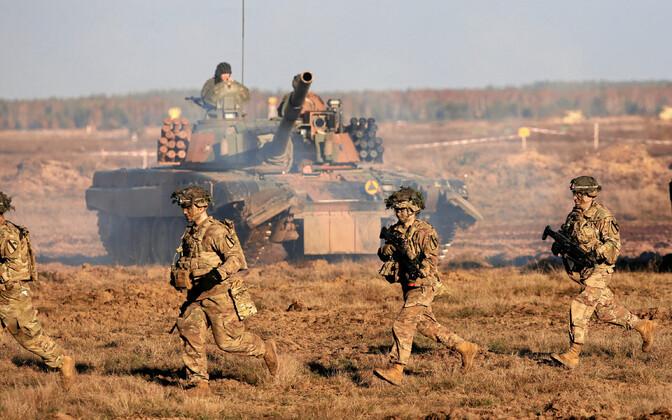 USA ja Poola sõdurid õppusel Poolas 2018. aasta novembris.