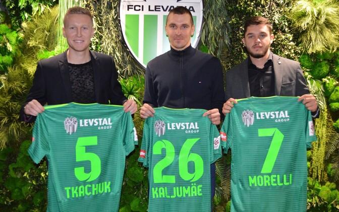 Juri Tkatšuk, Marek Kaljumäe ja Joao Morelli.