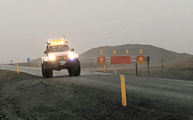 Õnnetuspaik Islandil.