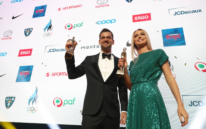 Magnus Kirt and Saskia Alusalu, winners of the individual athlete of the year 2018 categories.