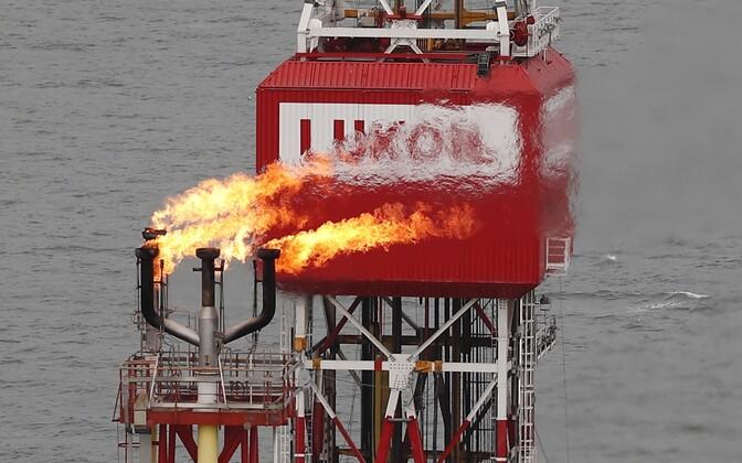 Lukoili naftaplatvorm Kaspia meres.