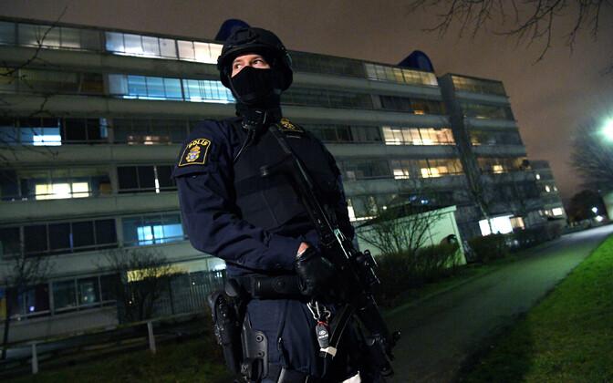 Rootsi politsei eriüksuslane, arhiivifoto.