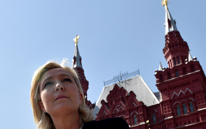 Marine Le Pen Moskvas Punasel väljakul.