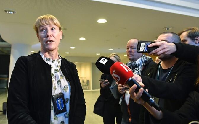 Uurimist juhtiv komissar Kirsi Kanth Helsingi politseist.